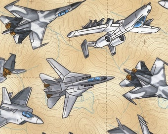 Military Fighter Planes from Timeless Treasures