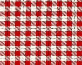 Red Plaid from Riley Blake's Comfort and Joy Collection By Dani Mogstad for My Mind's Eye