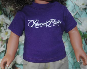 American, made, girl, boy, graphic, band, tee, shirt, fits, 18 inch doll, top, doll clothes