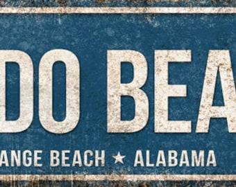 "Perdido Beach Blvd // Orange Beach, Alabama  // Metal Sign // 5.5"" x 22"""