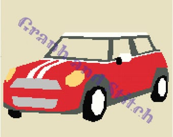 Mini Cooper - 180 x 180 - graph and written pattern
