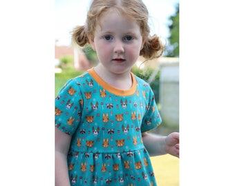 Baby Girl Dress pattern Pdf sewing, Knit Jersey Dress, Short and Long Sleeve, DOTTY Toddler dress, newborn dress 0 - 10 years