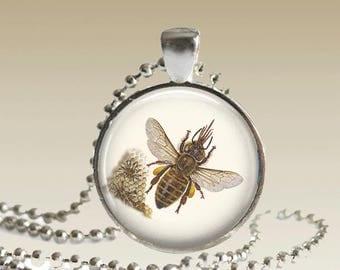 Bee Necklace Honeybee Necklace Bee Jewelry Bee Pendant Save The Bees