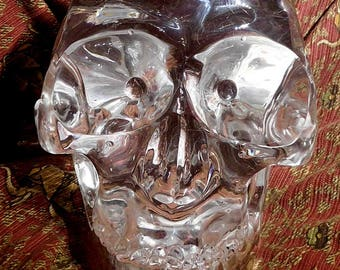 World Class Quartz Crystal Skull !! Full Life Size Detachable Jaw