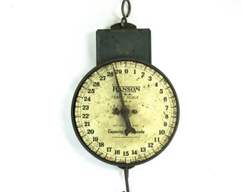 Hanson Dairy Scale Model 60, Farmhouse Scale, Rusty Hanging Scale