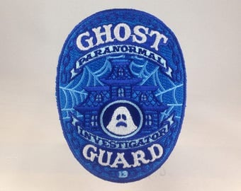 Ghost Guard: Paranormal Investigator embroidered patch - glow-in-the-dark