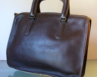 Original Bell USA Heavy Chocolate Brown Briefcase Style Bag