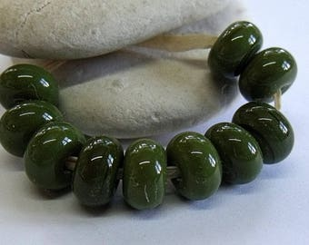 Olive, Lampwork Spacer Beads, SRA, UK