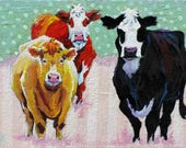 Special Order for L. Moore ,Cow Painting, Cow Print, Cow Art, Cowgirls  Art Print 12 x 16 by Jemmas Gems