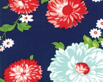 "Moda ""The Good Life"" - Floral Navy Main yardage(5 or more yards)"
