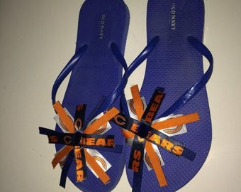 Sale: Chicago bears flip flops ( made to order all sizes available)