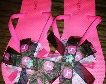 Sale: Camo flip flops ( made to order all sizes available)