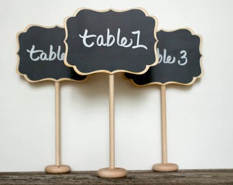 Wedding Chalkboard Sign, Chalkboard Wedding Table Numbers, Small Chalkboard Signs for Weddings, Wedding Signs, Wedding Decorations