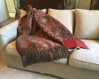 Exotic Moroccan Throw Blanket, Warm Substantial Coverlet, Tribal Rug, Tapestry Wall Hanging, Boho Thows Quilts, Luxurious Decorator OOAK