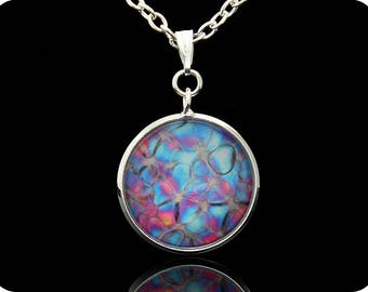 Biology Jewellery - Science Pendant - Rose stem section by polarised light microscopy