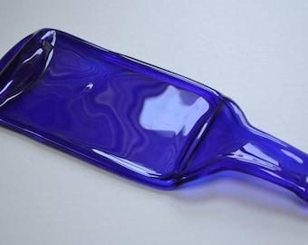 Cobalt Blue Wine Bottle Serving Tray