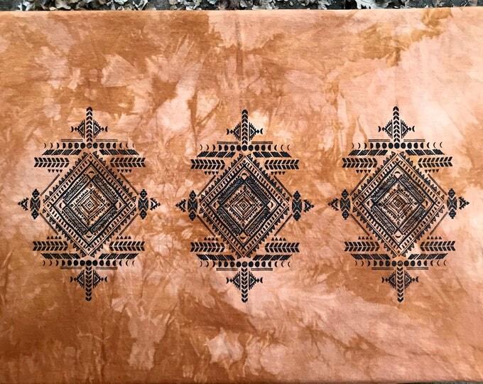 CAMEL Tribal MOONS Infinity Scarf - Organic Bamboo SCARF
