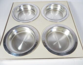 Mid Century Silverplate Coasters - Set of 4 Silverplate Coasters