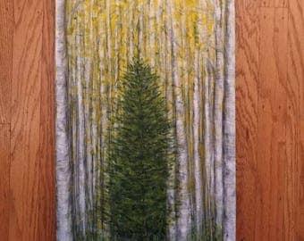 Among the Birch Grove
