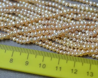 Seeds pearl Freshwater pearls Potato pearl Loose pearls Potato pearl necklace 2.7-3mm Pink 150 pcs Full Strand PL5037