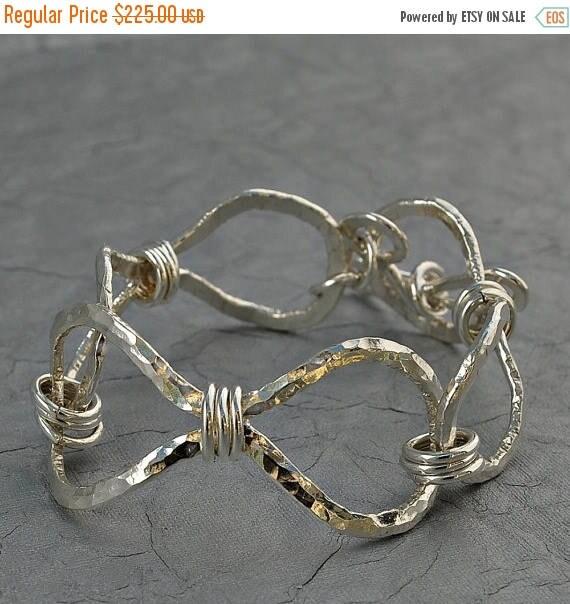 ON SALE Cuff Bracelet - Silver Infinity Cuff Bracelet