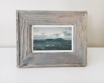 "Nautical Wood Picture Frame 6x4"" photo Driftwood Beach Decor, by SEASTYLE"