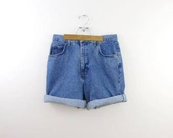 SALE Vintage 1980s High Waisted Denim Shorts in Medium by Bayclub