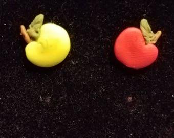 Handmade Cute Apple Stud Earrings