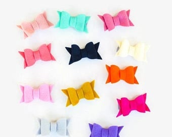 SALE Felt Hair Bows - Pick Your Own Color