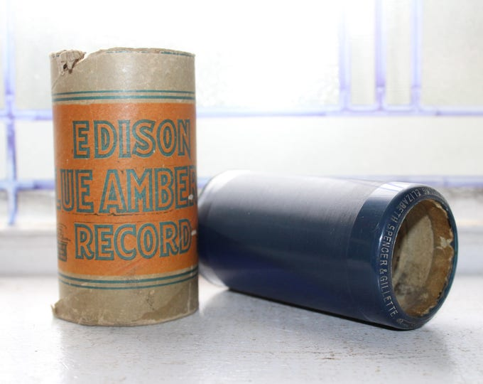 Antique Edison Cylinder Record 1583 Uncle Josh Buys An Automobile Phonograph