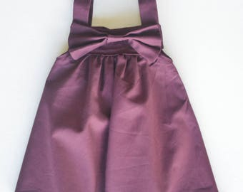 Maroon Big Bow Dress Baby Toddler Child Maroon Dress