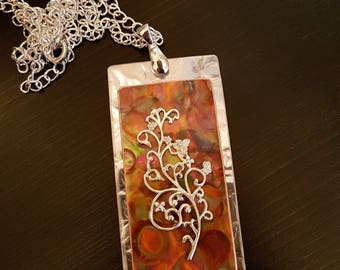 Flame Copper Floral Necklace