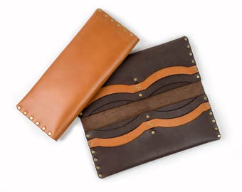 Leather Long Wallet, Premium Italian Leather / gift for her / women's wallet / gift for mom / billfold / credit card wallet