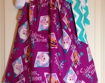 Frozen Dress / Elsa Dress / Anna Dress / Frozen Birthday Dress  / Disney Pillowcase dress / Elsa pillowcase dress / Anna Pillowcase dress