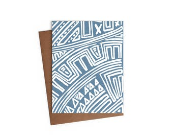 Mayan Inspired Pattern - Blank Card - Digitally Printed A2 Cards w/ envelope