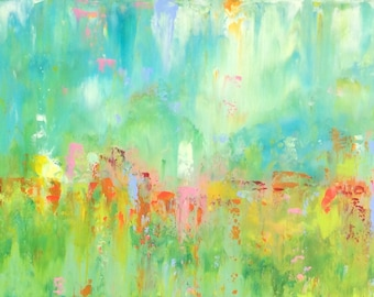 Abstract Landscape -'Bewitched' - acrylic painting on canvas - size 30cm x 80cm