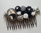 Custom made Jack and Sally Wedding Bridal Comb for Jenny
