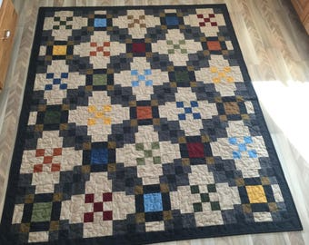 Colorful Flannel Throw Quilt