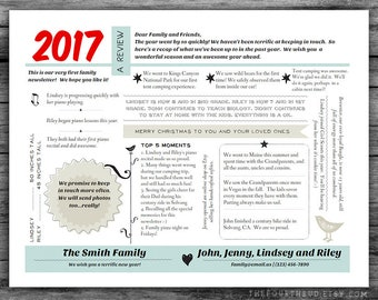 """Year In Review / Christmas Letter Template in PDF for Print / Text Only / """"Random Thoughts"""" / Adobe Reader Required"""