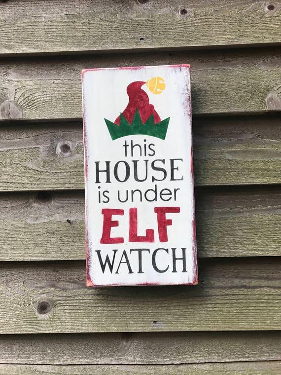 Christmas decor elf sign funny Christmas sign Christmas