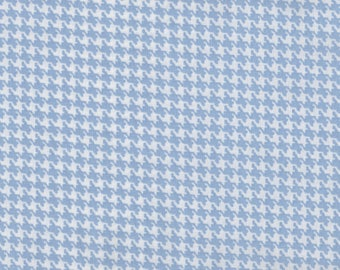 Fat Quarter, Hounds Tooth, Light Blue Fabric, Blue Fabric, Blue Checker Fabric, 01905