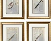 4 Vintage Doctor Prints G...