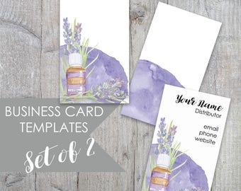 Essential Oils Business Card, Business Card, Calling Card, Essential Oils, Essential Oil Business Card Template, Lavender Business card