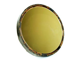 Bourbon Barrel Wall Mirror - Bourbon Barrel Decor - Round Barrel Mirror - Vanity Mirror - Bathroom Mirror - Whiskey Barrel Mirror -