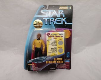 Star Trek Deep Space Nine Captain Benjamin Sisko Action Figure - New in Box - NIB - Trouble With Tribbles Temporal Investigations Episode