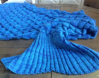 Mermaid Blanket for the Pretty Mermaid in your life Lavender and Teal Blue Hughapy
