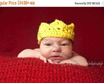 SUMMER SALE Baby Prince Princess Royal Crown Hat - U Pick Colors - Newborn Boy Girl Costume Halloween  Photo Prop Cap Winter Outfit