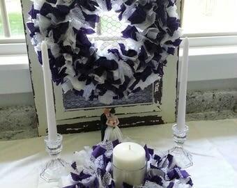 Unity Candle Ceremony Set, Violet Wedding Candle Ceremony Set, Violet Unity Candle Ceremony Set, Wedding Ceremony Set, Wedding Unity Candle