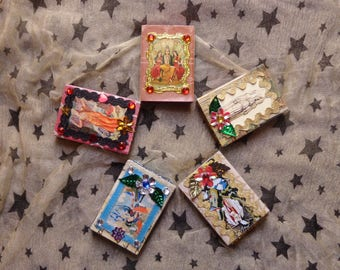 Vishnu, Chang-O, Amaterasu, Hecate, and Ishtar Decorated Matchboxes.