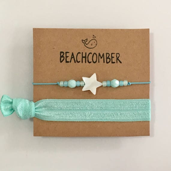 Beach jewelry, friendship bracelets,  gift for her